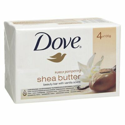 4 x 100g Dove Purely Pampering Shea Butter Beauty Bar with Vanilla Scent