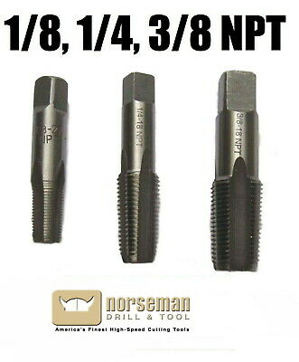 1/8-27 1/4-18, and 3/8-18 NPT Pipe Tap Brand New Norseman / Viking
