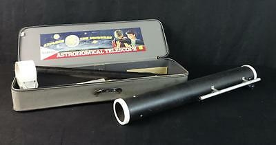 Beautiful Gilbert number 13211 80 power astronomical telescope with case.
