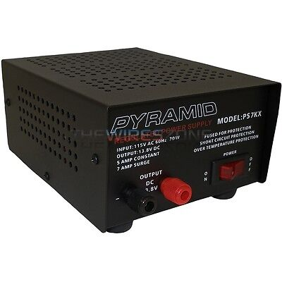 New 5 Amp 110 Volt AC-DC Fully Regulated Low Ripple 12 Volt Power Supply
