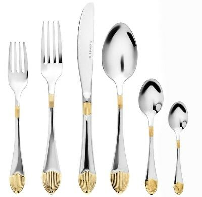 75-pc Mimosa Gold Flatware Set Service for 12 18/10 Stainless Silverware Cutlery