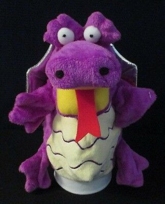 *Beautifully detailed 25cm Mauve Dragon Hand Puppet *