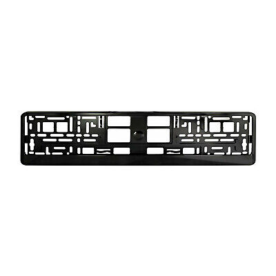 High Glossy Black Number Plate Holder Licence Plate Surround Frame ABS PC O2