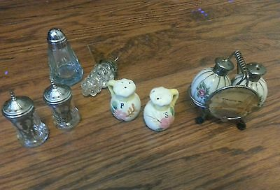 Vintage Lot of Salt and Pepper Shakers 3 Sets 8pc Lot