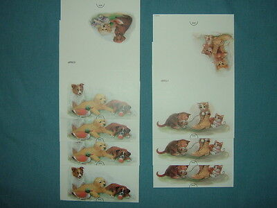 7 New Dog & Cat Note Cards--2 Designs