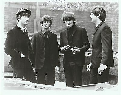GEORGE HARRISON THE BEATLES  Hand Signed Autographed 8X10 PHOTO W/COA