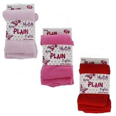Girls Plain Cable Tights I.l.c.k Dark Light Cerise Pink & Red Childrens Clothing