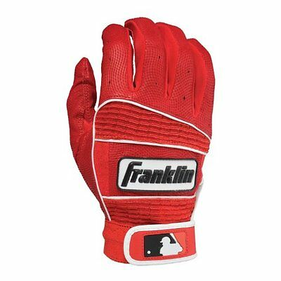 Franklin Sports MLB Adult Neo Classic II Series Batting Gloves, Red, Large