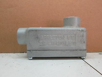"Appleton ERLB50 1/2"" Explosion Proof Conduit Body Type LB Malleable Iron"