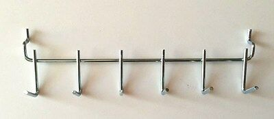 "(4 Pack) All Metal Peg Tool Holder Garage Shelf Hanger for 1/8"" & 1/4"" Pegboard"