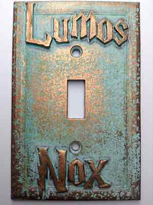 Lumos/Nox Harry Potter Light Switch Cover - Aged Copper/Patina or Stone