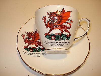 Duchess Cup & Saucer The Prince Of Wales 1 St July 1969 Investiture Caernarvon