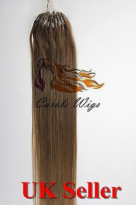 "18"" 1g/s 6A* Double Drawn Indian Remy Loop Micro Ring Human Hair Extension in UK"