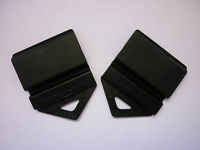 2 L and P Plate Holders Clip It On car number plate Black in colour