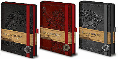 Official Game Of Thrones Premium Notepad Notebook Jotter Leather Look TV Gift