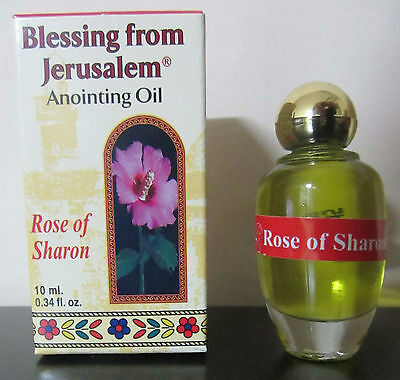 Anointing Oil Rose of Sharon Biblical Perfume 0.34oz From Holyland Jerusalem