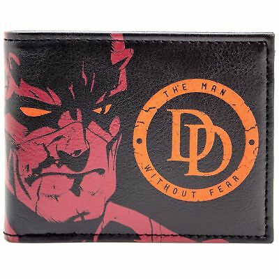New Official Daredevil The Man Without Fear Red Id & Card Bi-Fold Wallet