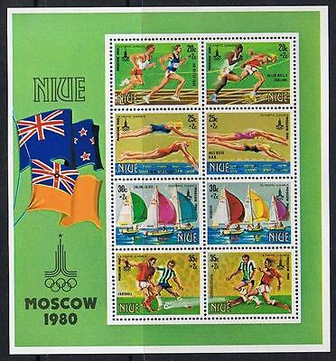 STAMPS  NIUE 1980 MOSCOW OLYMPIC Ms. (MNH)   lot BC83