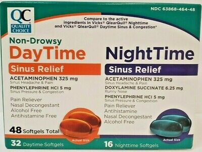 DayQuil NyQuil Combo Pack 48ct (32 DaQuil & 16 NyQuil Caps) Cold & Flu