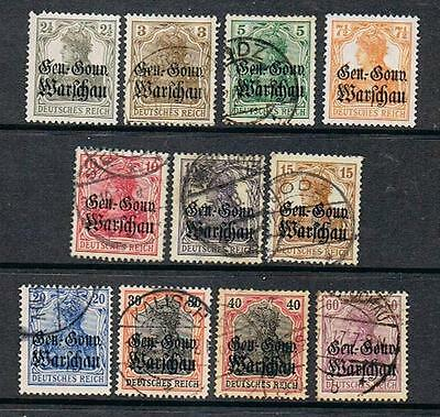 STAMPS  GERMANY- POLAND  1916 Opt.( USED/MINT) lot 1007