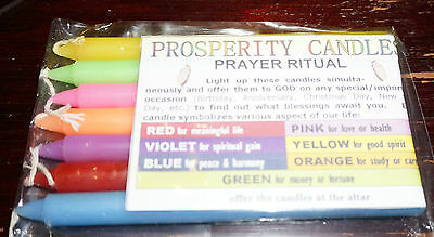 Prosperity Wishing candles Prayer Ritual Wicca Witch spiritual Wish Pagan Altar