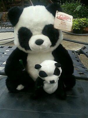 Coca-Cola Plush Panda With Baby - From  Fao Schwarz - Nwt! !!