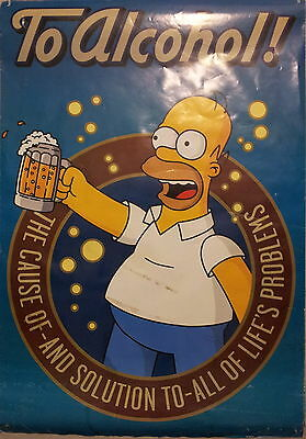 POSTER Homer Simpson - To Alcohol (68 cm x 99 cm)