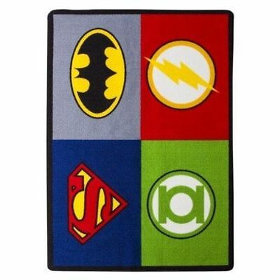 Justice League Large Accent Floor Rug 39 in X 56 in