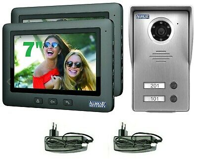 "Video Türsprechanlage Gegensprechanlage Sprechanlage 1 Familienhaus 7"" TFT LCD G"