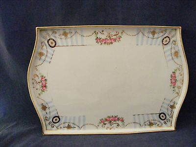 """Vintage Hand Painted Nippon Porcelain Tray 7.5"""" x 11"""""""