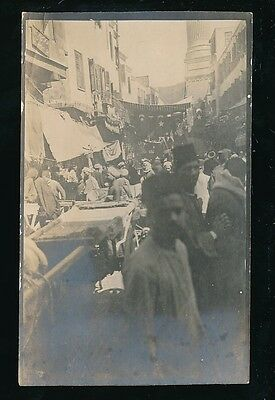 Egypt CAIRO animated street level scen c1900/20s photograph