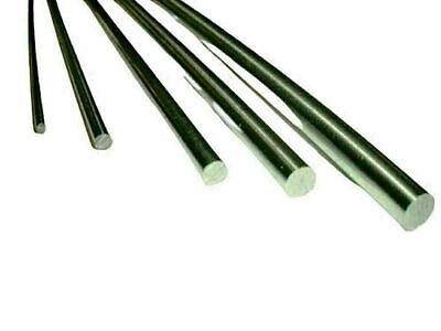 Silver Steel Ground Rod Round Shaft 2mm 3mm 4mm 5mm 6mm x 330mm Long