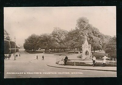 Gloucestershire Glos CLIFTON Proctor's Fountain RP PPC Used 1912