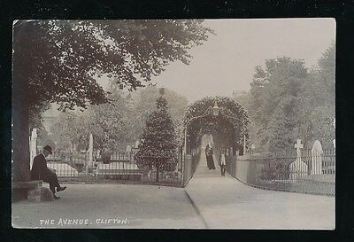 Gloucestershire Glos CLIFTON The Avenue used c1915 RP PPC
