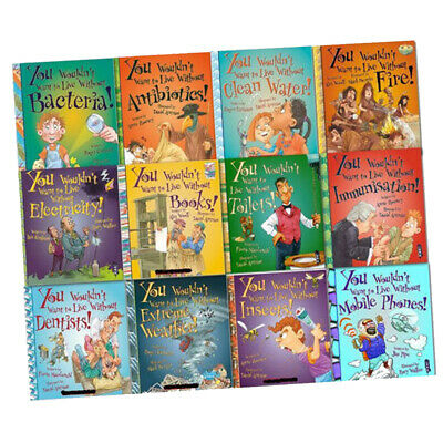 You Wouldn't Want to Live Without Series Collection 12 Books Set, Children Books