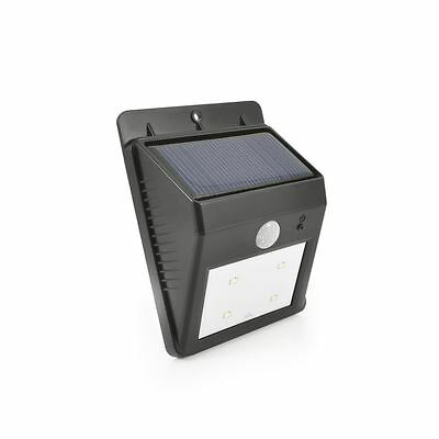 Quality Solar Powered Wedge Wall Garden LED Motion Sensor Security Light Bright