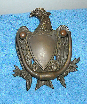 Bronze/brass Bald Eagle Door Knocker
