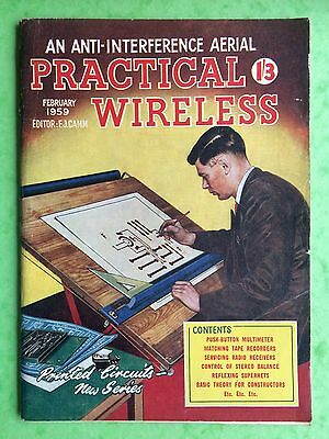 PRACTICAL WIRELESS - Magazine - February 1959 - An Anti-Interference Aerial