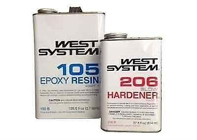West System Epoxy Resin W/Slow Hardener  655-105B 655-206B  West4U