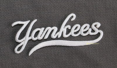"NEW YORK YANKEES ""YANKEES"" TURTLENECK logo OFFICIAL MLB PATCH"