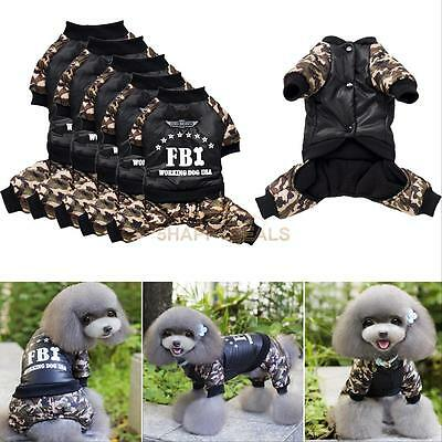 Winter Casual Pet Dog Clothes Warm Costume Jumpsuit Coat Jacket Clothing For Dog