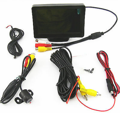 """170° CCD Wide Angle Car Reverse Parking Camera & 4.3"""" Color Digital LCD Monitor"""