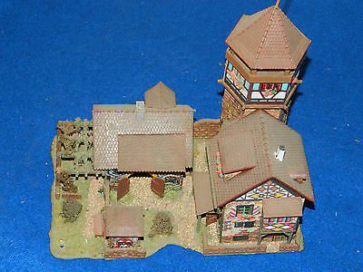 vintage FALLER 1/1 maison CHATEAU castle TOWER house maquette CIRCUIT de train