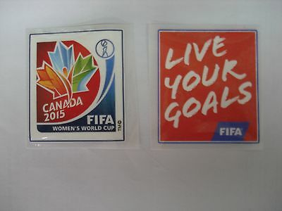 CANADA Woman's World Cup 2015 + LIVE YOUR GOALS PU Patch