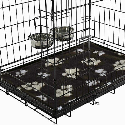 Dog Crates Cages With Vet Mat & 2 Cage Bowls Puppy Small Medium Large XL XXL