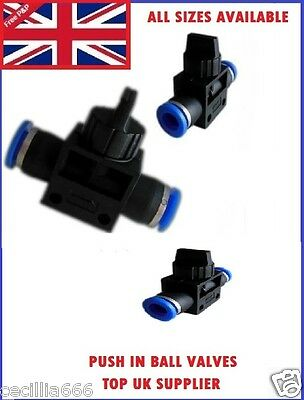 Pneumatic Push In Fitting Speed Joiner Ball Valve *All Sizes Available*