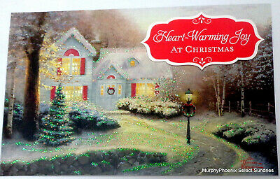 Thomas Kinkade Christmas.Thomas Kinkade Christmas Blessings Christmas Cards Heart Warming Joy Nib