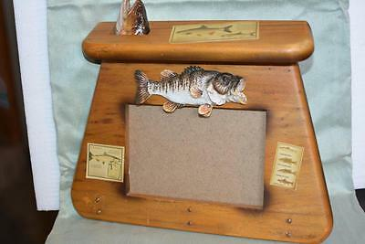 Wood 3D PICTURE FRAME Fishing Bag Fish