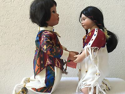 Prayer partners by ashton drake and paradise galleries native americn doll