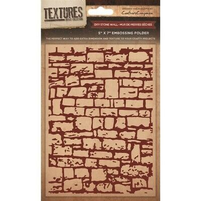 "Crafters Companion Textures 5x7"" Dry Stone Wall Embossing Folder EF5-DRYW"